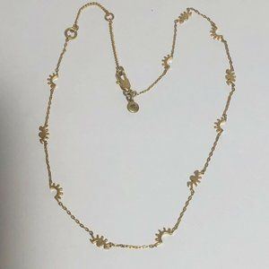 MADEWELL EYE Winks Lashes Gold Necklace Adjustabl